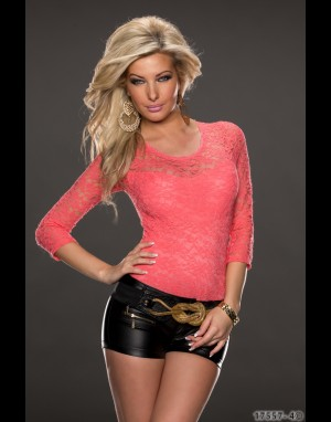 Body-Shirt - koraal 17557-4