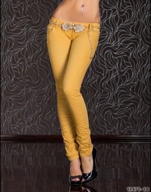 Jeans - mosterd 12471-1