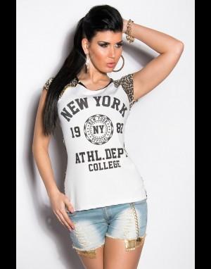 T-shirt - wit / leo 101-T3279