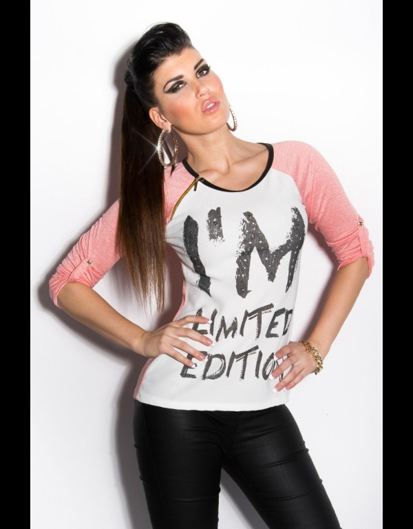 T-shirt - zalm 84-T59