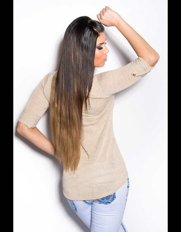 T-shirt - beige 86-T1604