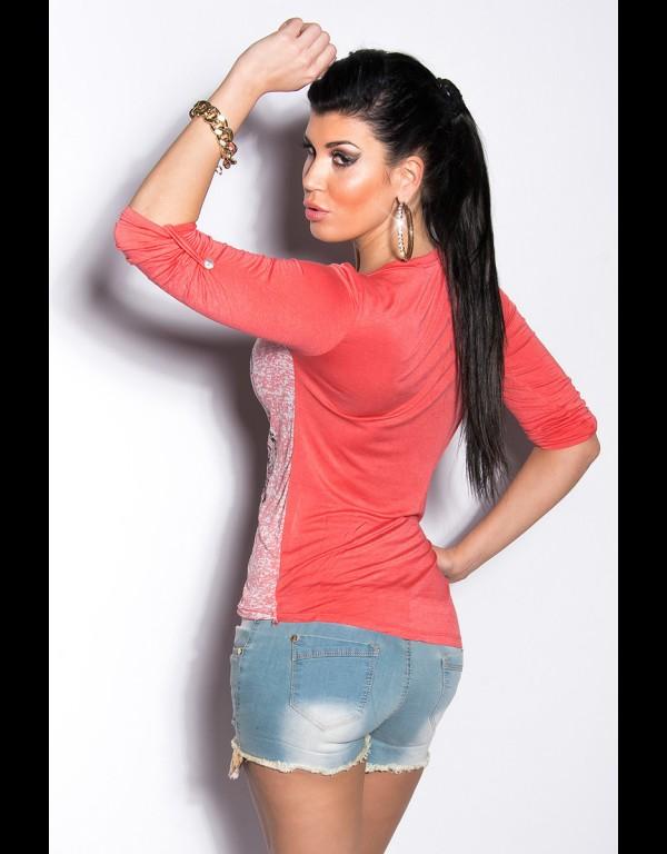 T-shirt - koraal 93-T600