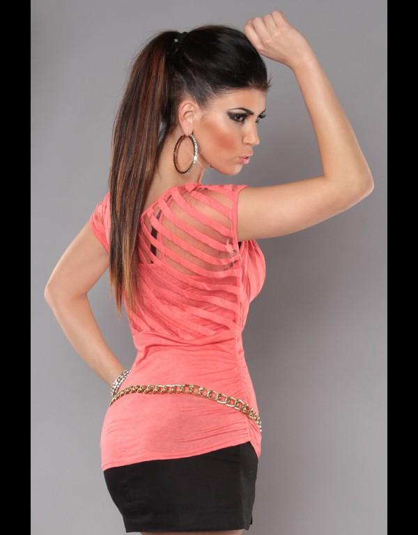 T-shirt - koraal 97-T323